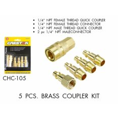 Creston 5pcs Brass Quick Coupler Kit By Tool Experts.