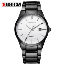 Curren Stainless Steel Strap Unisex Watch 8106 (Black/Silver)