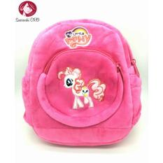 Cute Baby Plush Korean version Double pocket Backpack Cartoon Children s  Mini School Bag 10 Inches dc06f7207d