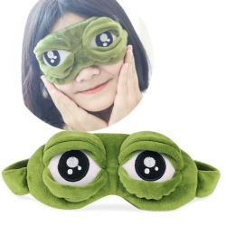 Cute Eyes Cover The Sad 3D Eye Mask Cover Sleeping Rest Sleep Anime Funny Gift - intl