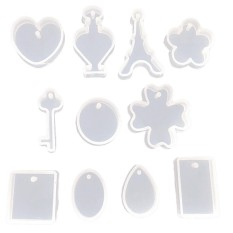 Cyber TOP SALE Jewelry Pendant Resin Casting Mould DIY Clear Silicone Mold Making Craft Tool -