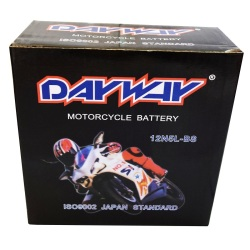 Dayway 12N5L-BS Motorcycle Battery (Black)