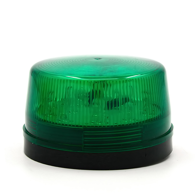 DC 12V 30mA Plastic Alarm Strobe LED Light Siren Green - thumbnail