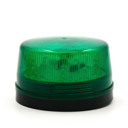 DC 12V 30mA Plastic Alarm Strobe LED Light Siren Green