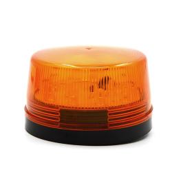 DC 12V 30mA Plastic Alarm Strobe LED Light Siren Orange