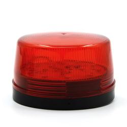 DC 12V 30mA Plastic Alarm Strobe LED Light Siren Red