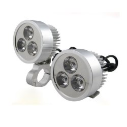 DC 12V 9W Motorcycle Electric Bicycle Car PMMA LED Head Light White