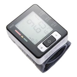 Digital LCD Wrist Blood Pressure Monitor (Black/White)