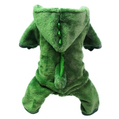 Dinosaur Change To Pet Clothes With Thick Warm Dog Clothes Costume Size S - Intl By Miss Lan