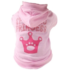 Dog Cat Clothes Jersey Knitwear Warm Vest For Dog Jacket Hooded Coat Dog Clothes (pink, Xs) - Intl By Sunnny2015