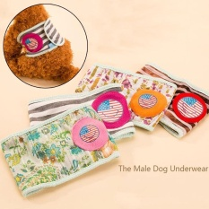 Dog Diapers Tighten Strap Physiological Underwear Wrap Belly Band Nappy Pants (L) - intl