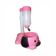 Dog Shaped Pet Water And Food Feeder - Pink By Smooch Pooch Discount Center.