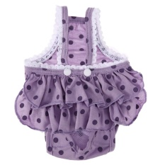 Dog Strap Sanitary Physiological Pants New Cotton Dots Print Pet Underwear(purple)-L - Intl By Crystalawaking.