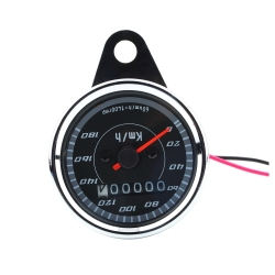 Double Color LED Light Universal Speedometer for Motorcycle