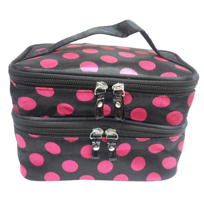 Double Layer Storage Bag Travel Toiletry Cosmetic Makeup Bag Pink product preview, discount at cheapest price