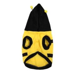 Dress Up Costume Bumblebee Bee Yorkie Doogie Dog Coat Clothes Pet Apparel S - Intl By Superbuy888