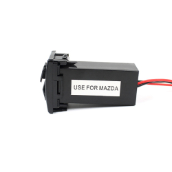 Dual USB Ports Dashboard Mount Fast Charger 5V for MAZDA Car