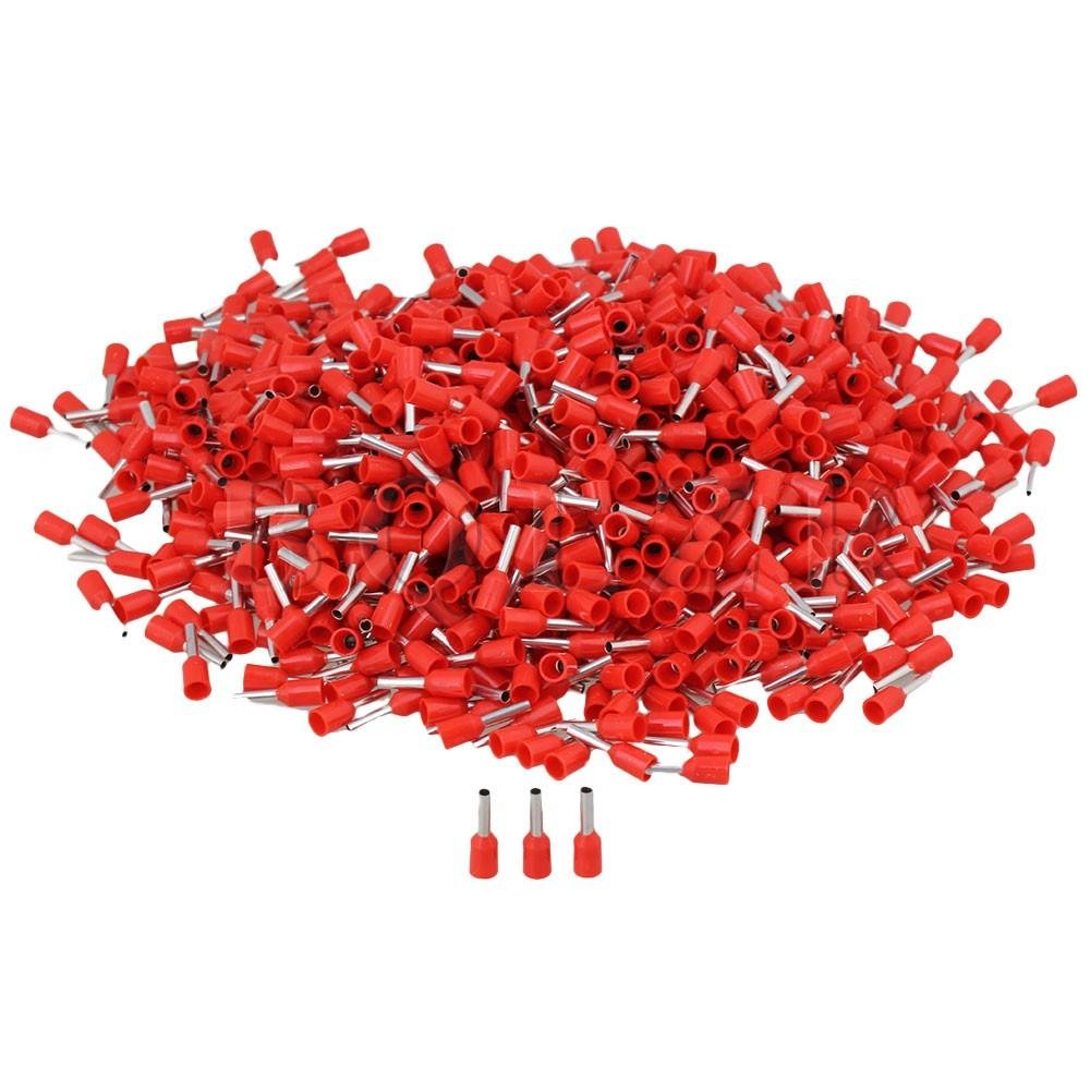 E1508 16AWG Insulated Terminals Set of 1000 Red product preview, discount at cheapest price