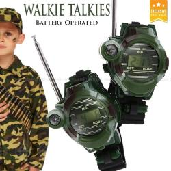 E&E Kids Walkie Talkies Wrist Watches Intercom Set Electric Outdoor Army Game Toy