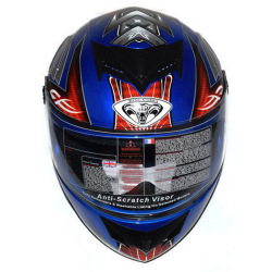 Edison Full Face Helmet Cobra (Blue)