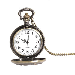 Elegant Retro Large Face Pocket Watch Necklace Hanging Quartz Watch Unisex