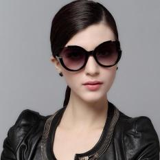 EOZY Korean Style Fashion Ladies Polarized Sunglasses UV400 Sunglass Metal Frame Glasses (Black) - intl