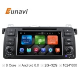 Eunavi HD Octa Core Android 6 0 For BMW E46 M3 Rover 75 Car DVD GPS Wifi 4G  Radio RDS Canbus RAM 2GB ROM 32GB 1 Din - intl