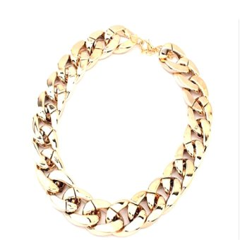 Exaggerated Chain Necklace Men or Women for Christmas Gift Clavicle necklace Jewelry Accessories- Intl