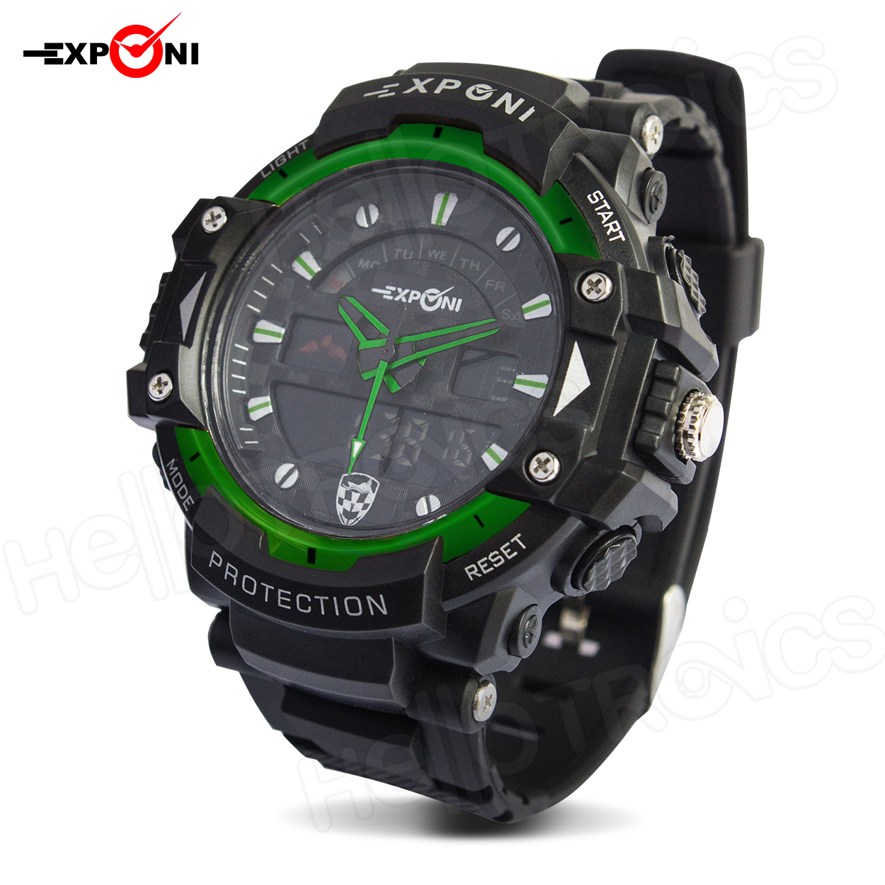 Exponi 3251 Digital Army Watch Unisex Resin Wrist Band (Green) product preview, discount at cheapest price