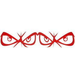 Eyes Design Sticker For Car Side Mirror Rearview Red