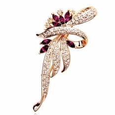 1a9abb1ceff Fancyqube Crystal Flower Brooch Lapel Pin Fashion Rhinestone Jewelry Women  Wedding Hijab Pins Large Brooches For