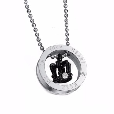 Fancyqube King Queen Stainless Steel Crown His and Her Promise Matching Love Couple