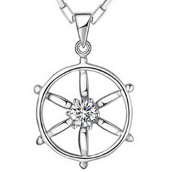 Fancyqube Love Pendants Anchor Rudder Rudder Men Silver
