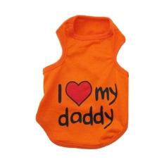 Fashion Cool Clothes Lover Vest T-Shirt For Puppy Dog Cat-Orange Xxl - Intl By Lapurer