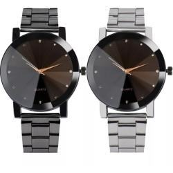 Fashion Couple Quartz Stainless Steel Strap Watch