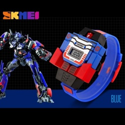 Fashion Digital Children Watch Date Cartoon Kids Sports Watches Relogio Robot Transformation Boys Wristwatches 1095 - intl