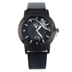 Fashion Girl Lady Women Luxury Diamond Pretty Quartz Wrist Watch Black