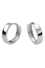 Fashion Men 925 Sterling Silver Plated Hoop Earring Earrings Huggie Gift Intl