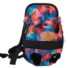 Fashion Pet Cat Dog Puppy Outdoor Traveling Front Backpack Carrier Breathable Dual Shoulder Bag With Leg Holes Size L For Pet Less Than 5.5kg Multi Color Style - Intl By Vococal Shop.