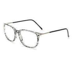 Fashion Rectangle Glasses BlackWhite Frame Glasses Plain for Myopia Women Eyeglasses Optical Frame Glasses Oculos Femininos