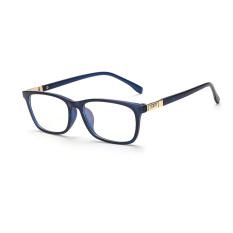 Fashion Rectangle Glasses Blue Frame Glasses Plain for Myopia Women Eyeglasses Optical Frame Glasses Oculos Femininos