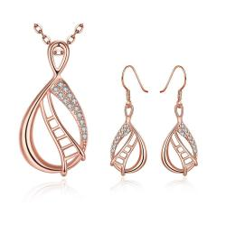 Fashion Rose Gold Plated Women Custom Personalized Jewelry Set S012-B - Intl