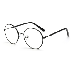 Fashion Vintage Retro Round Glasses Black Frame Glasses Plain for Myopia Men Eyeglasses Optical Frame Glasses