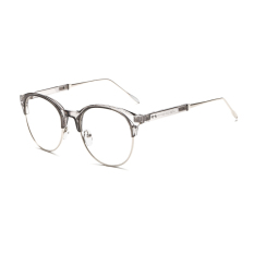 Fashion Vintage Retro Round Glasses Grey Frame Glasses Plain for Myopia Men Eyeglasses Optical Frame Glasses