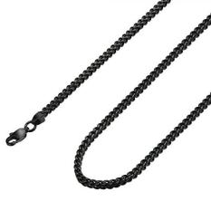 Fibo Steel 3mm Stainless Steel Black Franco Chain Necklace For Men Biker Punk Style,28 Inches By Galleon.ph.
