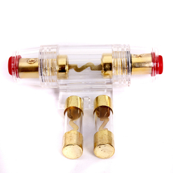 Gauge AGU Fuse Holder with 2X40amp In Line Glass Fuses