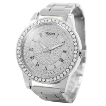Geneva Jaden Stainless Steel Watch (Silver)
