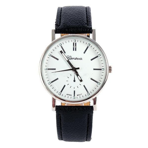 Geneva Quartz Gold Dial Sport Fashion Wrist Watch Strap Bracelet
