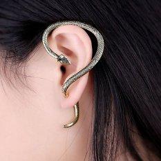 5d77833b6c5a1 Gothic Punk Snake Wind Temptation Silver Ear Stud Cuff Earring Golden - intl