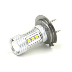 H7 DC 12-24V 80W 680LM LED Car Fog Light Lamp Bulbs (White)